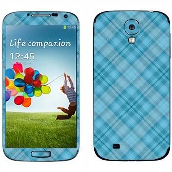 Виниловая наклейка «Голубая клетка» на телефон Samsung Galaxy S4