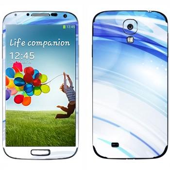 Виниловая наклейка «Голубые линзы» на телефон Samsung Galaxy S4