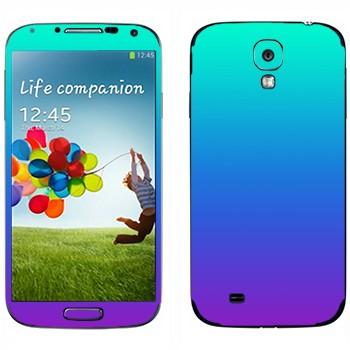 Виниловая наклейка «Градиент от голубого к фиолетовому» на телефон Samsung Galaxy S4
