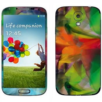 Виниловая наклейка «Игра цвета, трава, листья, лес» на телефон Samsung Galaxy S4