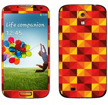 Виниловая наклейка «Желто-красные пирамидки» на телефон Samsung Galaxy S4