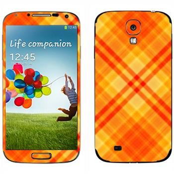 Виниловая наклейка «Желто-оранжевые полосы» на телефон Samsung Galaxy S4