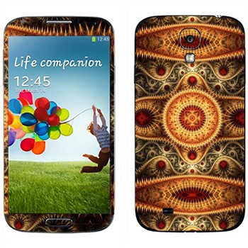 Виниловая наклейка «Калейдоскоп ковер» на телефон Samsung Galaxy S4