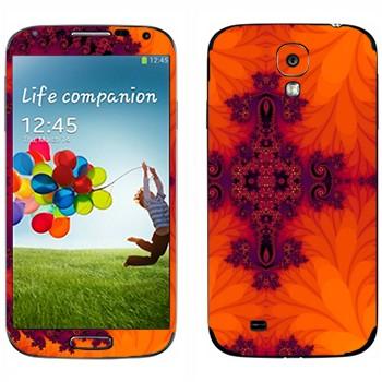 Виниловая наклейка «Калейдоскоп листья» на телефон Samsung Galaxy S4