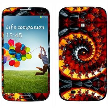 Виниловая наклейка «Калейдоскоп спиральный осенние листья» на телефон Samsung Galaxy S4