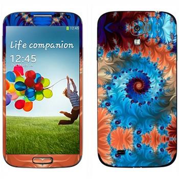 Виниловая наклейка «Калейдоскоп спиральный узор» на телефон Samsung Galaxy S4