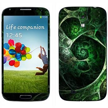 Виниловая наклейка «Калейдоскоп зеленая пещера» на телефон Samsung Galaxy S4