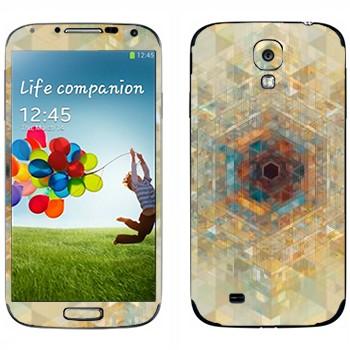 Виниловая наклейка «Калейдоскоп» на телефон Samsung Galaxy S4