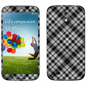 Виниловая наклейка «Клеточки черно-белые» на телефон Samsung Galaxy S4