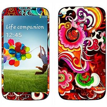 Виниловая наклейка «Красивый разноцветный узор» на телефон Samsung Galaxy S4