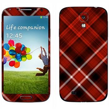 Виниловая наклейка «Красно-белая клетка» на телефон Samsung Galaxy S4