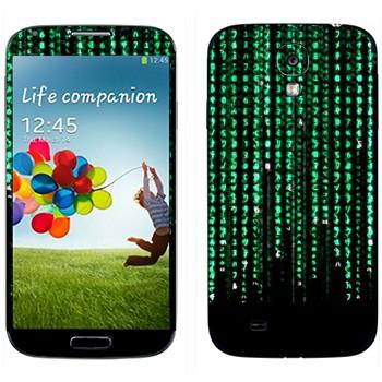 Виниловая наклейка «Матрица» на телефон Samsung Galaxy S4