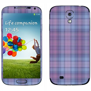 Виниловая наклейка «Мелкая фиолетовая клетка» на телефон Samsung Galaxy S4
