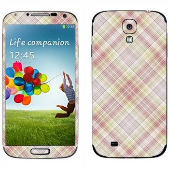 Виниловая наклейка «Наклонная светлая клетка» на телефон Samsung Galaxy S4