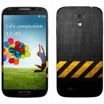Виниловая наклейка «Опасная зона» на телефон Samsung Galaxy S4