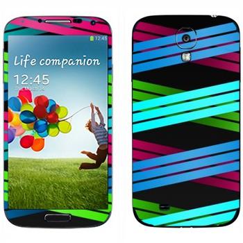 Виниловая наклейка «Плетение из цветных полос 2» на телефон Samsung Galaxy S4