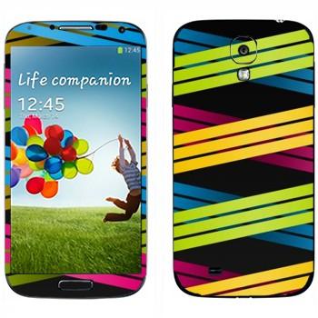 Виниловая наклейка «Плетение из цветных полос 3» на телефон Samsung Galaxy S4