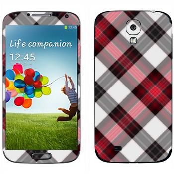 Виниловая наклейка «Плетение в клеточку» на телефон Samsung Galaxy S4