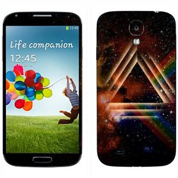 Виниловая наклейка «Призма в космоме» на телефон Samsung Galaxy S4