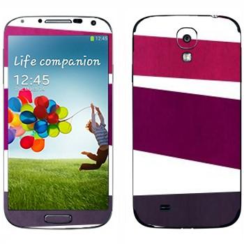 Виниловая наклейка «Пурпурная, фиолетовая, серая полосы» на телефон Samsung Galaxy S4