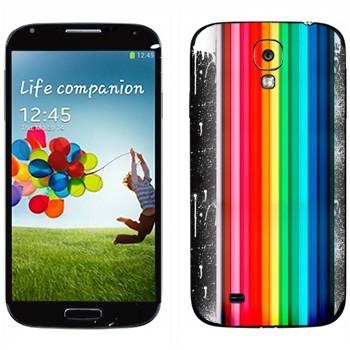 Виниловая наклейка «Радуга и пятна» на телефон Samsung Galaxy S4