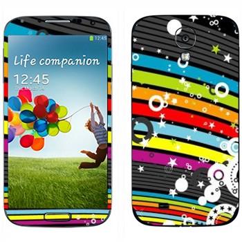 Виниловая наклейка «Радужная абстракция» на телефон Samsung Galaxy S4