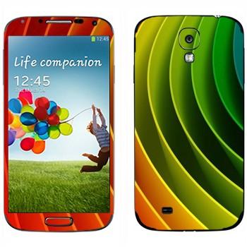 Виниловая наклейка «Радужная спиральная пружина» на телефон Samsung Galaxy S4