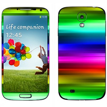 Виниловая наклейка «Радужное сияние» на телефон Samsung Galaxy S4