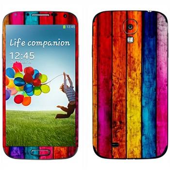 Виниловая наклейка «Радужные доски» на телефон Samsung Galaxy S4