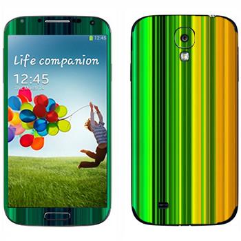 Виниловая наклейка «Радужные линии» на телефон Samsung Galaxy S4
