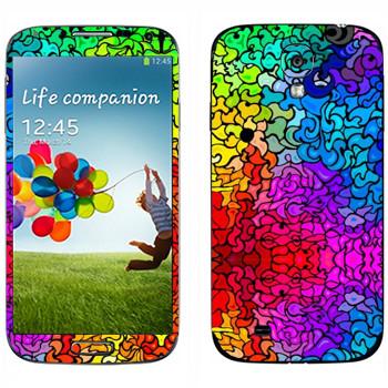 Виниловая наклейка «Радужный витраж» на телефон Samsung Galaxy S4