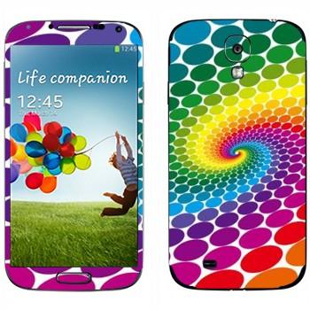 Виниловая наклейка «Радужный водоворот» на телефон Samsung Galaxy S4