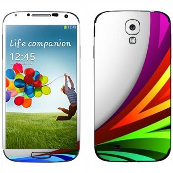 Виниловая наклейка «Радужный всплеск» на телефон Samsung Galaxy S4