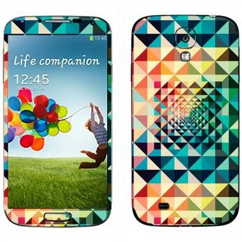 Виниловая наклейка «Разноцветная геометрия» на телефон Samsung Galaxy S4