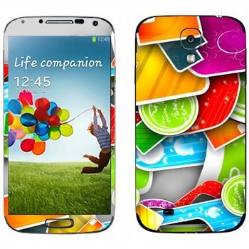 Виниловая наклейка «Разноцветная мозаика» на телефон Samsung Galaxy S4