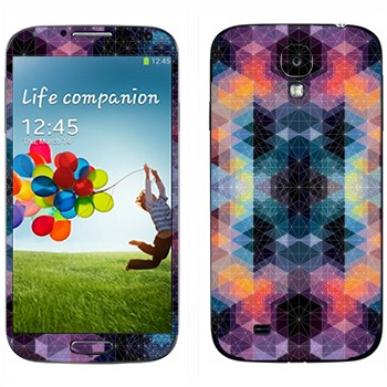 Виниловая наклейка «Разноцветные ромбики» на телефон Samsung Galaxy S4