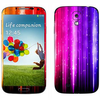 Виниловая наклейка «Разноцветный дождь» на телефон Samsung Galaxy S4