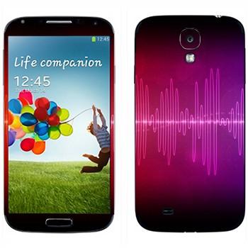Виниловая наклейка «Разноцветный эквалайзер» на телефон Samsung Galaxy S4