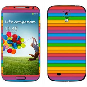 Виниловая наклейка «Разноцветный сайдинг» на телефон Samsung Galaxy S4