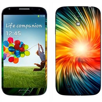 Виниловая наклейка «Разноцветный взрыв» на телефон Samsung Galaxy S4
