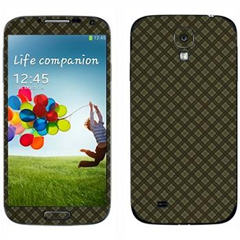 Виниловая наклейка «Серая клетка» на телефон Samsung Galaxy S4