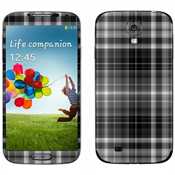 Виниловая наклейка «Серо-черные клеточки» на телефон Samsung Galaxy S4