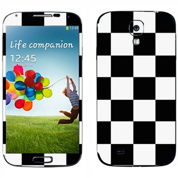 Виниловая наклейка «Шахматная клетка» на телефон Samsung Galaxy S4