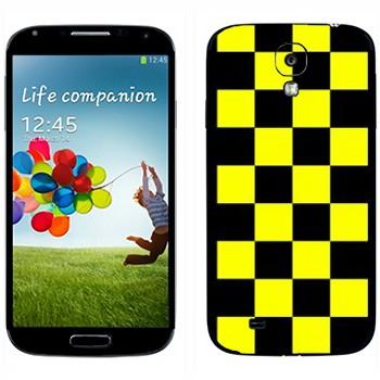 Виниловая наклейка «Шашки для такси» на телефон Samsung Galaxy S4