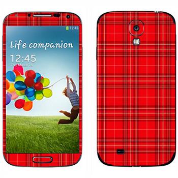 Виниловая наклейка «Шотландская клетка» на телефон Samsung Galaxy S4