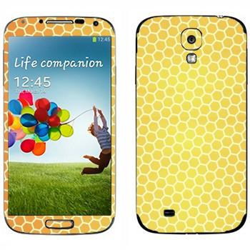 Виниловая наклейка «Соты пчелиные» на телефон Samsung Galaxy S4