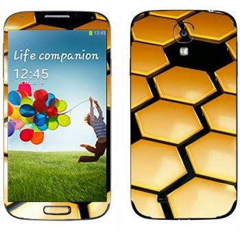 Виниловая наклейка «Соты техно стиль» на телефон Samsung Galaxy S4