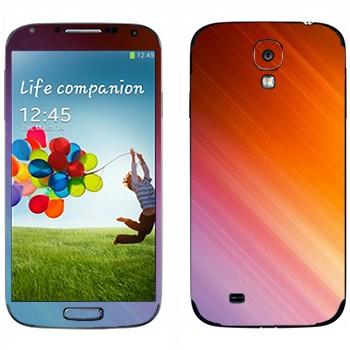 Виниловая наклейка «Струны цвета» на телефон Samsung Galaxy S4