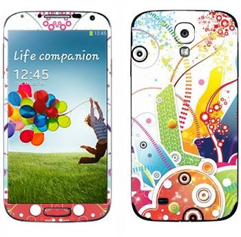 Виниловая наклейка «Цветная фантазия» на телефон Samsung Galaxy S4