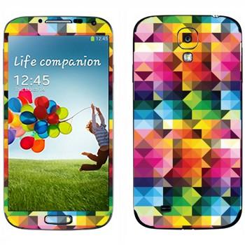 Виниловая наклейка «Цветная геометрия» на телефон Samsung Galaxy S4